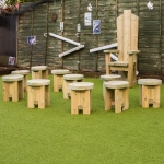 School Playground Seating in Aboyne 1