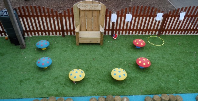 School Playground Seating in Aberfan